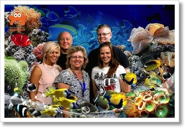 Family Photo at an Aquarium