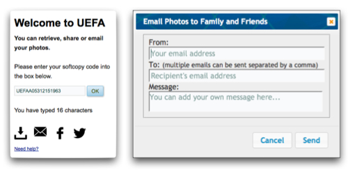Email your photo to a friend or share via social media.