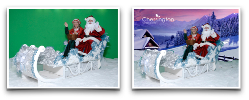 Our Green Screen solution being used at a Christmas Solution