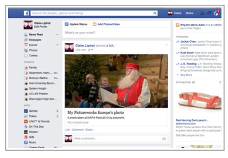 Sharing your souvenir photos onto Facebook