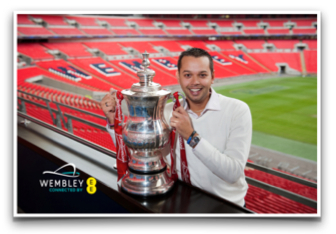 Souvenir Photo at Wembley Stadium