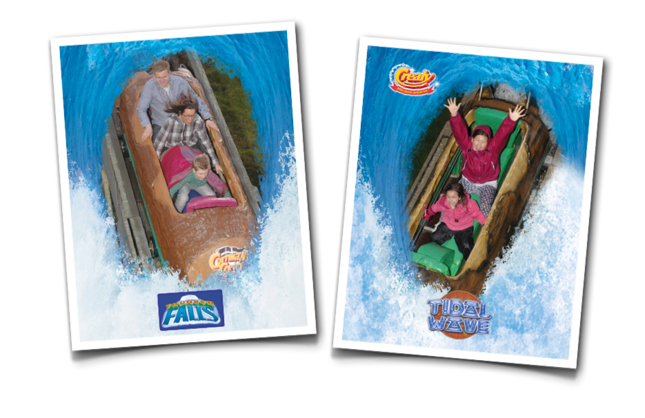 Photos from a Log Flume at a Water Park