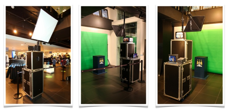 Temporary Photo Solution which was installed at the Manchester City FC Store in Central Manchester on multiple occasions