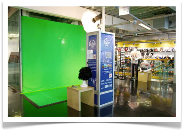 Our Green Screen Photo Installation at The Beatles Story