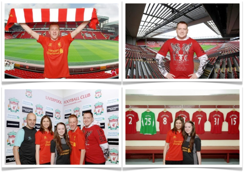 Using our green screen photo solution with Liverpool FC
