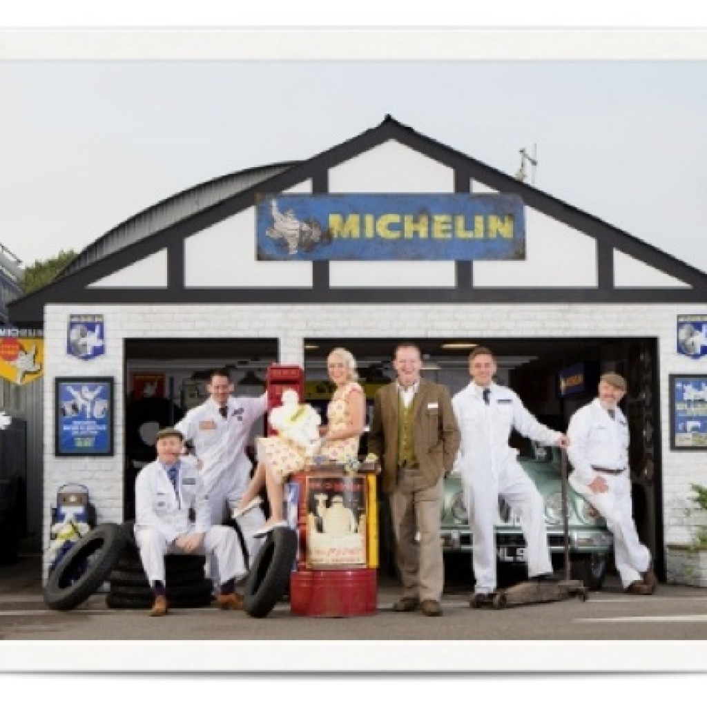 Vintage photography solution for Michelin at Goodwood