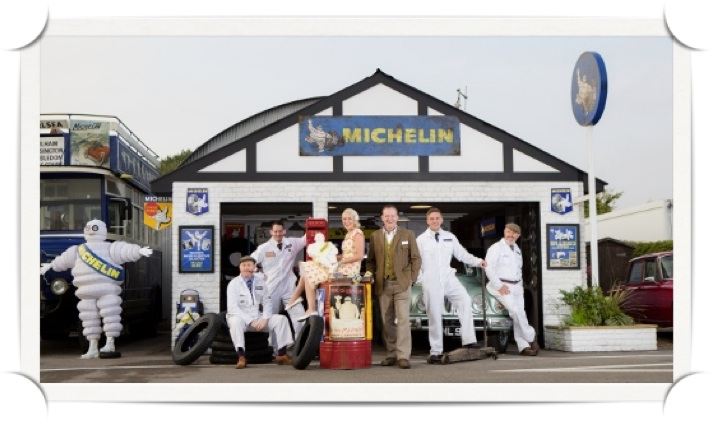 Vintage photography solution for Michelin at Goodwood Revival