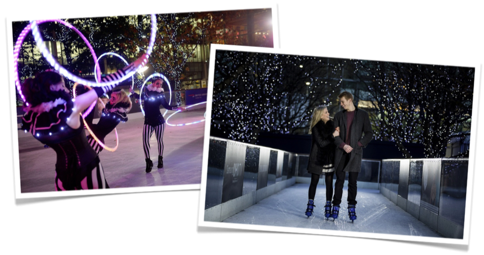 Christmas Photo Solution at Canary Wharf Ice Rink
