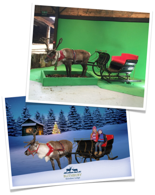 Custom Green Screen at Blithbury Reindeer Lodge