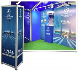 Visual communications in keeping with UEFA's brand