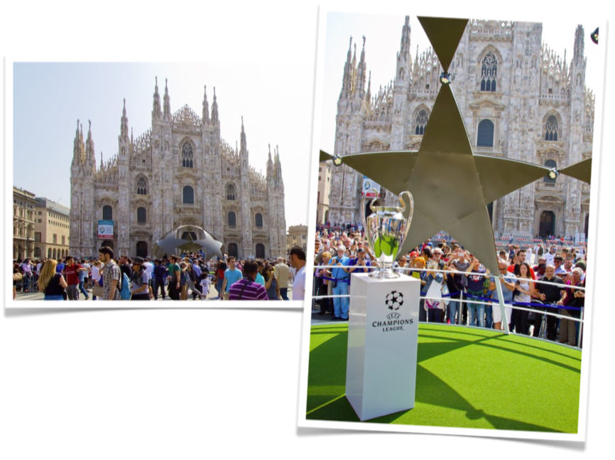 Photo Installation UEFA Milan