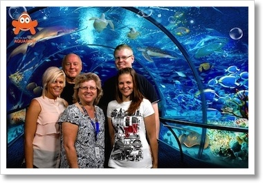 Family Souvenir Photo at the Aquarium