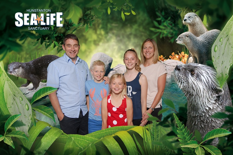Using our green screen photo solution at Hunstanton Sea Life Sanctuary