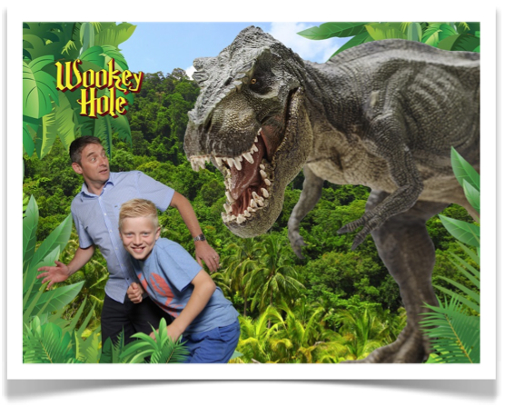 Snapshot with green screen photo installation at Wookey Hole